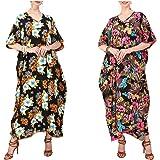 Miss Lavish London Women Kaftan Tunic Kimono Style Plus Size Maxi for Loungewear Holidays Nightwear & Everyday Dresses #12413