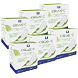 Organyc 100% Certified Organic Cotton Feminine Pads, 10 Count (Pack of 6)
