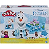DISNEY Frozen Play-Doh - Olaf's Sleigh Ride Play Set inc 5 Tubs of Dough - sensory and educational craft toys for kids, boys,