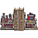 Bellaa 20928 Train Bookends Pair Handmade Vintage Style Book Holder