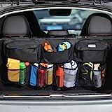 COOFULL Car Trunk Organizer - Super Capacity Car Hanging Boot Organisers with 7 Enlarged Pockets, 2 Long Magic Stick, Car Boo