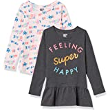 Spotted Zebra Girls GSZ45084FL18/ GSZ45085FL18 Girl's 2-Pack Long Sleeve Tunic Long Sleeve Shirt - Multi
