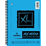 "Canson XL Series Mix Media Pad, 5.5"" x 8.5"", Side Wire Bound, 60 Sheets (400037134)"