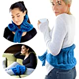 Extra Large Microwavable Heat Wrap - with Extra Long Straps for Lower Back Pain Relief, Heated Neck and Shoulder Wrap | Cold