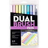 Tombow 56187 Pen Dual Brush Markers, Pastel