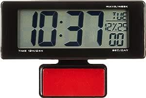 セイワ(SEIWA) 車用 時計 ライト電波クロック 電池タイプ ブルーLED W690