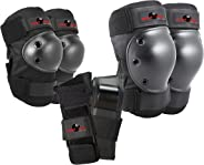 Eight Ball Kids Multi-Sport Pad Set with Knee Pads, Elbow Pads, and Wristguards