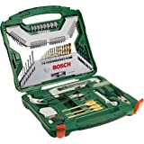 Bosch 103 Piece Bosch X-Line Titanium Drill and Screwdriver Bit Set (For Wood, Masonry, and Metal)