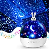 Night Lights for Kids Room,Moon Star Projector Night Light Kids Night Light Projector Star Bluetooth Music Baby Projector Tim