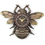 Veronese Design Resin Wall Clocks Steampunk Style Bronze Finish Honeybee Wall Clock 9.75 X 7.25 X 1.38 Inches Bronze