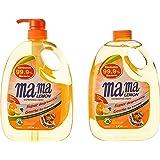 Mama Lemon Dishwashing Liquid, Anti-bacterial Citrus, 1L Banded with 1L Refill