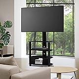"""Artiss TV Stand Floor Standing TV Mount Bracket Shelves for 32"""" to 55"""" Screen Universal ±33° Swivel Home Living Room Office M"""