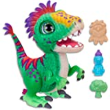 Hasbro E0387 FurReal- Munchin' Rex Dinosaur inc Treats- Plush Pets- Interactive and nuturing Toys for Kids, Girls, Boys- Ages