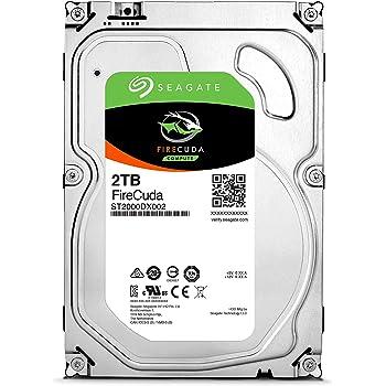 """Seagate FireCuda 3.5""""2TB SSHD 内蔵ハードディスク ゲーム用 5年保証 6Gb/s MLC/8GB 7200rpm 正規代理店品 ST2000DX002"""