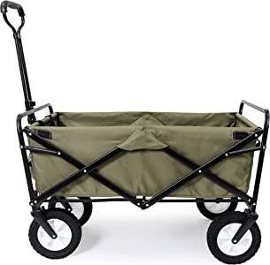 (Green) - Mac Sports Collapsible Folding Outdoor Utility Waggon, Green