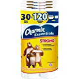 Charmin Essentials Strong Toilet Paper, 30 Mega Rolls = 120 Regular Rolls