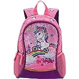 """LEXU Reversible Sequin 13"""" Lightweight Preschool Children Backpacks School Bag Bookbag For Kindergarten Kids Boys Girls (Girl"""
