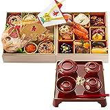 お食い初め豪華二段セット 日本橋正直屋 和食伝統料理の老舗 これ一つでお食い初めの儀式が出来ます (男の子用 器付き)
