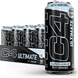 C4 Ultimate Sugar Free Sparkling Energy Drink Artic Snow Cone | 16oz (Pack of 12) | Pre Workout Performance Drink with No Art