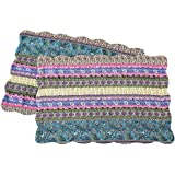 NEWLAKE Quilted Cotton Bed Pillowcases, Striped Jacquard Style, 2 Pieces, 20x36 Inch