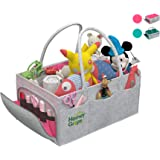 Homey Grips - Baby Diaper Caddy – Infant Portable Organizer for New Parents – Washable Felt Nursery Storage Basket Stacker -