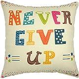 YOUR SMILE Cotton Linen Square Decorative Throw Pillow Case Cushion Cover 18x18 Inch(44CM44CM) … (108)