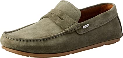 TOMMY HILFIGER Men's Classic Suede Penny Loafers Classic Suede Penny Loafers