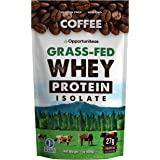 Coffee Protein Powder - Grass Fed Whey Isolate + Colombian Coffee - Low Carb & 60mg Caffeine - Boost Energy Pre or Post Worko
