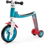 スクート&ライド ハイウェイベビープラス ブルー/レッド 工具不要で切替できるキッズスクーター⇔ペダルなし自転車の2wa…