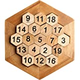 Honeycomb Math Puzzles Brain Teaser Wooden Hexagon Digital Puzzle ToysDigital Game Number 19 Sum Equal to 38 Math Board Game