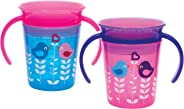 Munchkin Miracle 360 Trainer Cup, Pink/Blue, (Pack of 2)