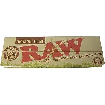 RAW ロウ オーガニックヘンプペーパー 1 1/4サイズ 巻きタバコ用ペーパー ORGANIC HEMP rolling papers [並行輸入品]