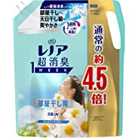 レノア 超消臭1WEEK 柔軟剤 部屋干し 詰め替え 大容量 1790mL(約4.5倍) 花とおひさまの香り 1袋