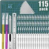 DIYSELF 74pcs Exacto Knife Upgrade Precision Carving Craft Knife Hobby Knife Exacto Knife Kit 70 Spare Xacto Blades for Art,