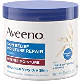 Aveeno Skin Relief Intense Moisture Repair Cream with Triple Oat Complex, Ceramide & Rich Emollients, Steroid- & Fragrance-Fr