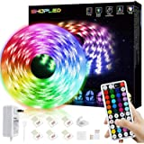 SHOPLED LED Strips Lights 5m RGB Light Strip Kit, 5050 SMD Flexible Color Changing LED Tape Lights with RF Remote Control, RG