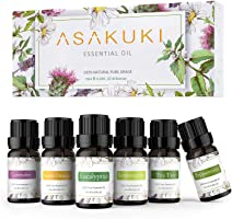 ASAKUKI Aromatherapy Essential Oils includes Lavender, Eucalyptus, Lemongrass, Tea Tree, Sweet Orange and Peppermint,...