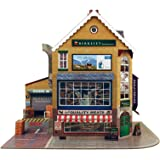O Gauge 1:48 Scale Corner SUPERMART Cardboard Model Making Kit The CityBuilder Model Railroad Building