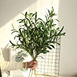 """NOLAST 37"""" Long of Artificial Eucalyptus Leave Faux Greenery Branches Stems Plants for Home Party Decoration 3 pcs"""