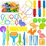 Play Dough Tools Kit Include 42Pcs Dough Accessories, Molds, Shape, Scissors, Rolling Pin with Storage Bag, Party Pack Playdo
