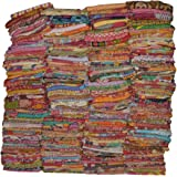 Vintage Handmade Kantha Quilts Indian Tribal Kantha Cotton Bed Cover Throw Assorted Patches Made Rally Reversible Bedspread T