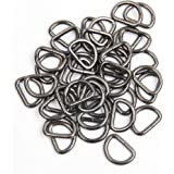 JWBIZ 50 Pack of Metal D Rings Heavy-Duty Extra Thick 3.8mm Thickness 1 inch D Ring for Sewing Keychains Belts and Dog Leash
