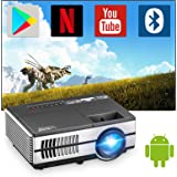 Mini Wireless Projector with Wifi and Bluetooth, Portable Home Theater Projector Smart Android Projector with HDMI USB VGA Au