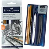 Faber-Castell Quality Creative Studio Mixed Media Sketch Set, Set of 7, Multicolor (18-114002)