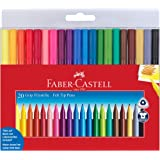 Faber-Castell Grip Color Markers - 20 Washable Fineline Markers