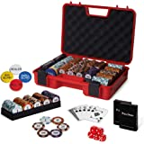 RUNIC Exclusive Poker Set 300 pcs, 14 Gram Clay Poker Chips for Texas Holdem, Black Jack, Casino Grade Chips, Features a Tast