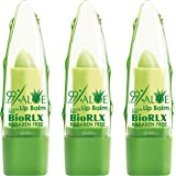 Biorlx 99% Purity Aloe Vera Color Free and Paraben Free Soothing Lip Balm Naturally Moisturize and Heal Damaging Wind, Harsh