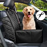 Flow.month Pet Front Seat Cover Pet Booster Seat,Deluxe 2 in 1 Dog Seat Cover for Cars Waterproof Dog Front Seat Cover Pet Bu