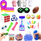 Fidget Toys Set,30 Pack.Sensory Toys Pack for Stress Relief ADHD Anxiety Autism for Kids and Adults,Liquid Motion Timer/Grape
