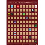 Guildable Top 100 Video Games Scratch Off Poster - Gaming Bucket List   Premium and Artistic Icons   Great Gift for Game Enth